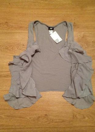 Суперская блуза накидка болеро / h&m / l