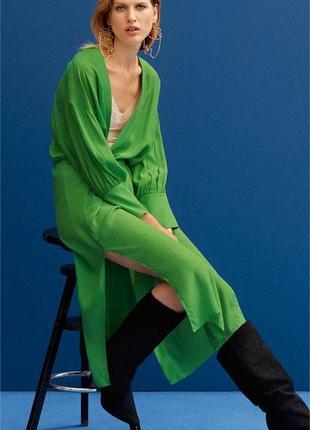 Платье на запах платье-халат h&m шёлк вискоза