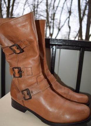 Зимние сапоги кожаные демисезонные р.41 27,5 remonte германия как новые