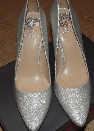 Туфли серебро vince camuto talise dress pump,  39 -39,5 р.