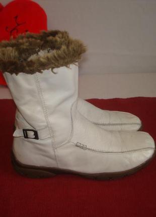 Зимние утепленные  кожаные сапожки полусапожки бренд janet d