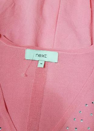 Нежно розовый джемпер со стразами4 фото