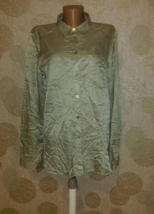 Обалденная блуза рубашка в составе шелк