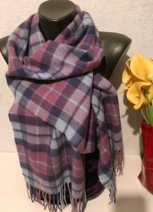 Lochmere,натуральный кашемир,актуальная клетка,нежные тона,шарф,тартан,152*30