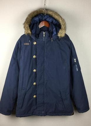 Теплая зимняя куртка bilabong синяя мужская парка чоловіча зимова куртка білабонг