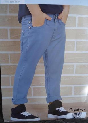 Летние брюки для мальчика impidimpi германия, 74-80 см