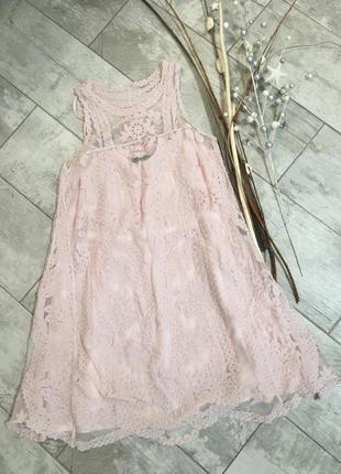 Красивое нежное кружевное платье