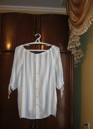 Блуза george, 100% вискоза, размер 22/50, новая с этикетками