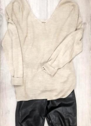 Нежно бежевый свитер george