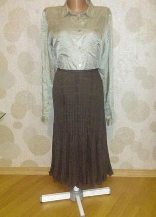 Супер модная юбка гофре  в составе шерсть