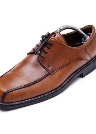 Кожаные туфли ecco shock point. стелька 28,5 см