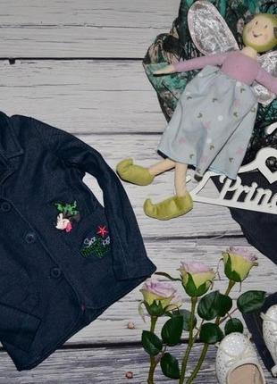 1 - 2 года мягкий фирменный пиджак джемпер девочке с минни маус