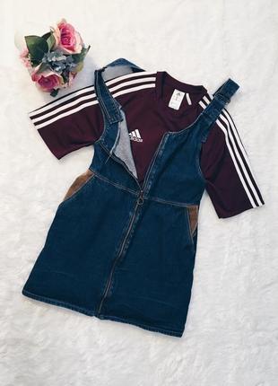 Шикарный джинсовый комбез(комбинезон юбка) xs-s,m размер идеал!