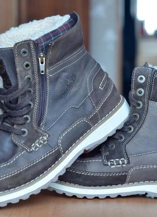 Мужские ботинки dockers, мех, кожа, (р. 45)