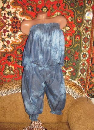 Лёгкий комбинезон под джинс на резинке