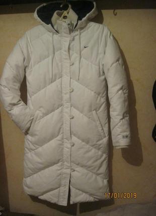 Качественный теплый пуховик пальто оригинал  nike