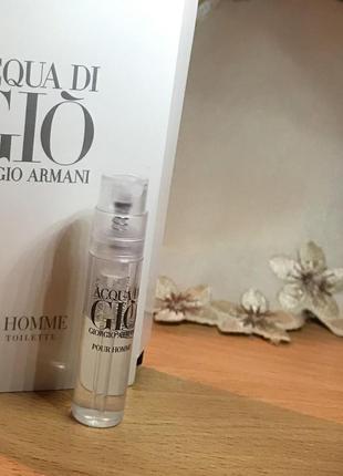 Armani acqua di gio pour homme- мужская туалетная вода, 1,2ml