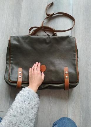 Вінтажна сумка ранець / винтажная кожаная сумка - портфель
