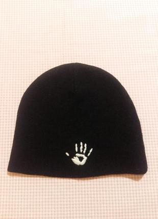 Молодежная стильная двойная шапка