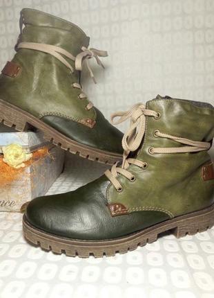 Rieker, оригинал, демисезонние ботинки, 41размер