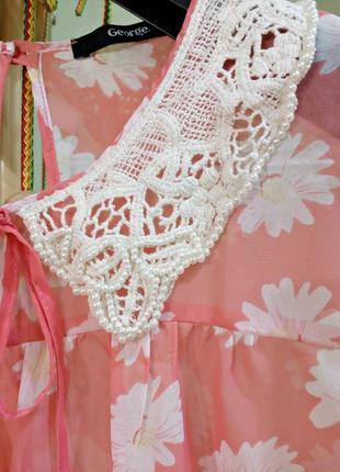 Шифоновая блуза с красивым воротничком2