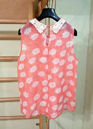 Шифоновая блуза с красивым воротничком3