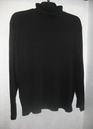 Джемпер гольф водолазка c&a свитер чёрный с горлом коттон