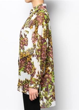 Рубашка в цветочный принт topshop oversized flower print shirt