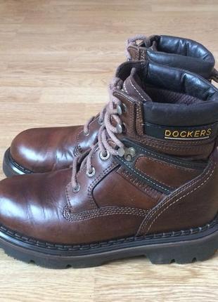 Кожаные ботинки dockers 40 размера в отличном состоянии