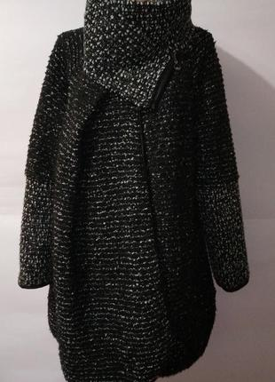 Шерстяное стильное итальянское пальто l-xl