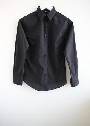 Идеальная базовая черная рубашка premier
