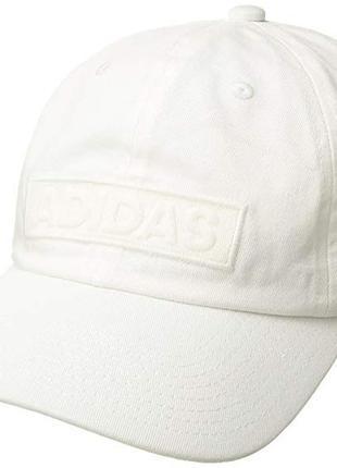 Кепка бейсболка adidas универсальный размер хлопок белая