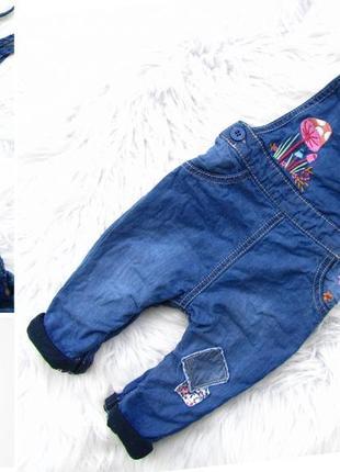 Крутой  джинсовый полукомбинезон mothercare