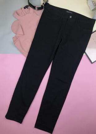 Чёрные джинсы zara skinny