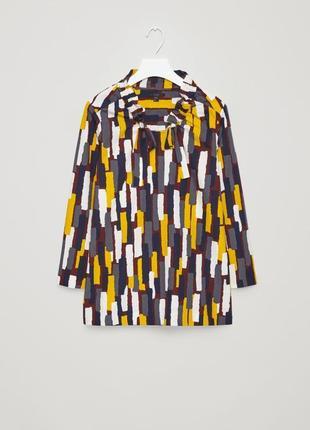 Яркая хлопковая блуза cos 36, 38, 42 размеры