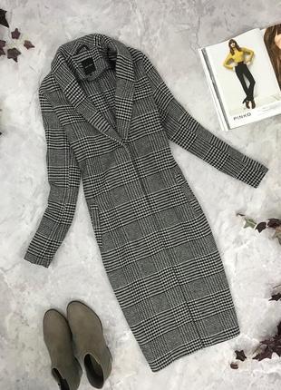 Классическое пальто в клетку   ov 1903038 new look