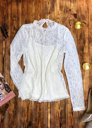 Очень красивая, нарядная,полностью гипюровая блуза от h&m