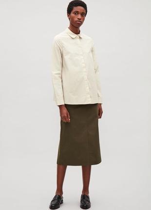 Хлопковая рубашка cos 36, 38 размер
