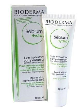 Увлажняющий крем для лица bioderma sebium hydra cream для проблемной кожи.