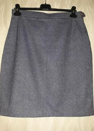 Юбка миди деним имитация джинса 42 р ручная работа