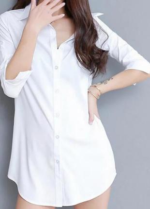 Белоснежная рубашка 14 размера papaya