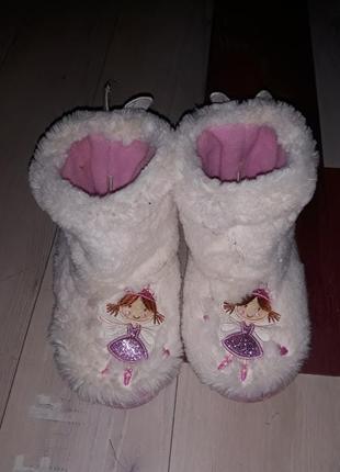 Мягкие тапочки сапожки slipper размер 8