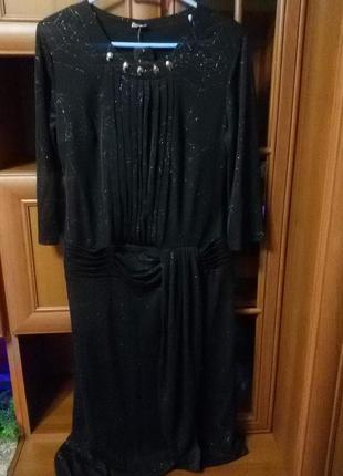 Платье с блёстками большого размера 50-54