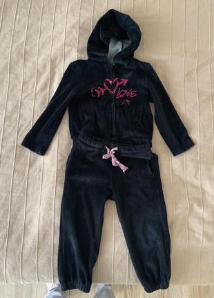 Костюм брюки кофта двойка на 2-4 года прогулочный костюм