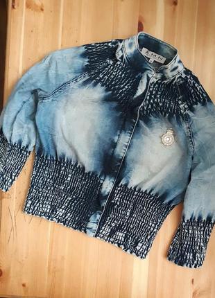 Шикарная джинсовая ветровка, курточка