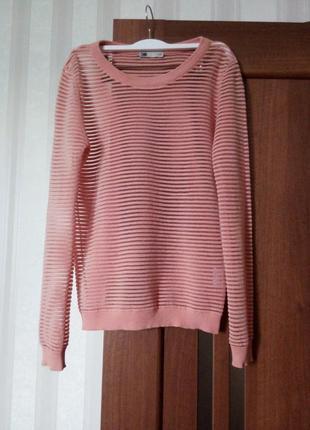 Роскошный хлопковый персиковый свитерок