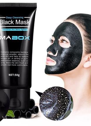 Черная маска пленка mabox для глубокого очищения кожи