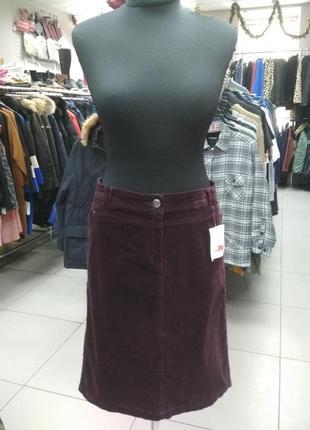 Вельветовая юбка большого размера (56)