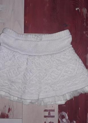 Стильная вязаная юбка baby gap на 1.5-3 года