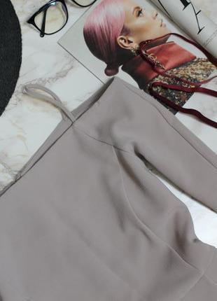 Обнова! платье открытые плечи а-силуэт беж качество h&m2